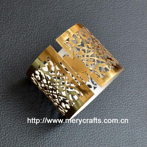 prata anéis de guardanapo para o banquete