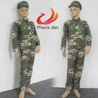 бесплатная доставка мальчики дети дети косплей камуфляж военный армия солдат костюм костюм для вечеринки
