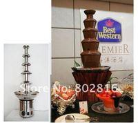 бесплатная доставка 4 уровни 60 см нержавеющая сталь коммерческая шоколадный фонтан чайник