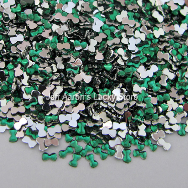 10000PCS bow-knot tie 3D Acrylic Nail Art Decorations Flat Back Rhinestones  Gems Cell Phone e2595ff2d2e9