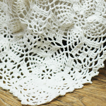 Free Shipping Hand Crochet Baby White Cotton Fabric Soft Blankets