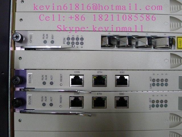 Хуа Вэй GPON или EPON OLT MA5680T с 2* scun+ 2* GICF PRTE+ 2* SCUN и один 8 портовая плата GPBD