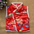 Traje do ano novo marca novas crianças inverno roupas de bebê infantil colete criança menino e menina estilo chinês Cheongsam Qipao trajes