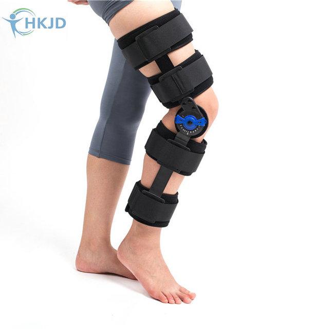 2016 Nuevo Diseño de Dispositivos Ortopédicos Ayuda de La Rodilla Brace Ortesis Rom Ángulo de Bisagra Ajustable Rodillera