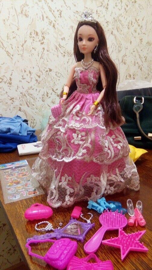 очень понравилось. ребёнок очень доволен. очень рада такому подарку. куколка соотствует описанию и представленному фото. все хорошо изготовлено. спасибо продавцу. а так же за подарочек внутри.