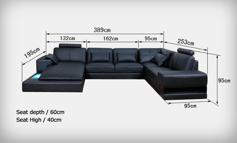 Living Room Genuine Leather Furniture 0413 S1319