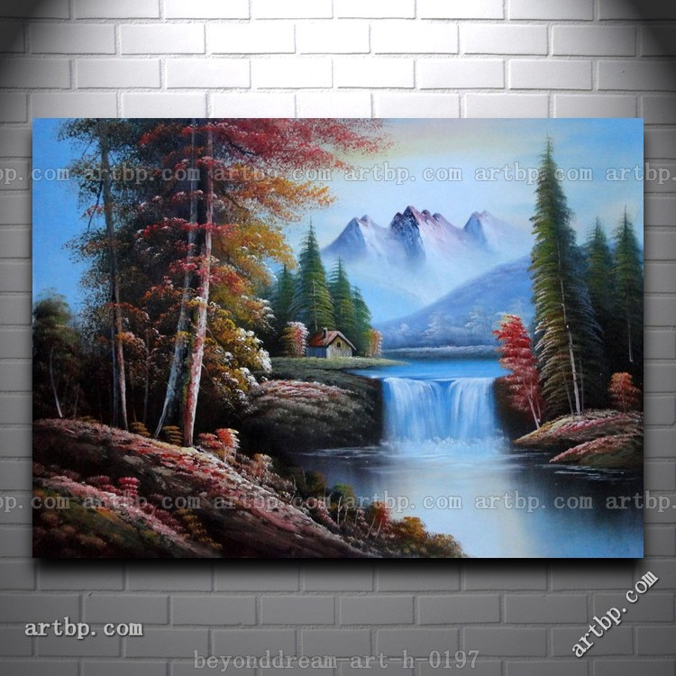 Snow Mountain Cabin And Creek Oil Painting Naturalism Landscape River Cheap Modern Decor Texture Acrylic Painting Free Sh Painting Free Decorative Canvas Paintingsdecorative Glass Painting Aliexpress
