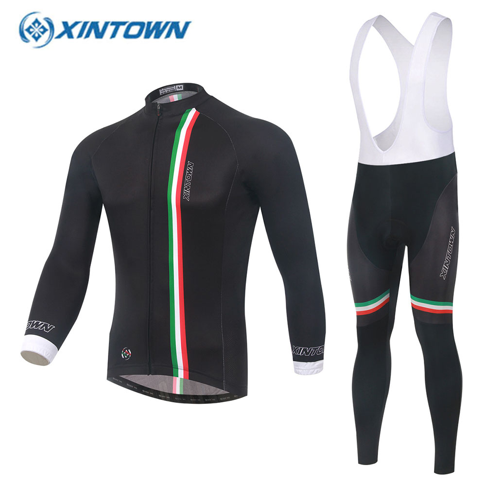 XINTOWN Long Sleeve Cycling Jersey 2017 Men Bike Clothing Bicycle Outdoors Tops Maillot Ciclismo Roupa Fahrradbekleidung veobike men long sleeves hooded waterproof windbreak sunscreen outdoor sport raincoat bike jersey bicycle cycling jacket