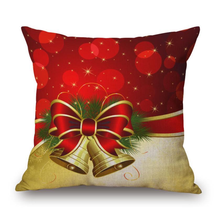 Pillow Covers Christmas Decorative Linen Square Throw Pillow Case Fashion Dersign Cushion Cover Cojines Decorativos De Lujo#7419