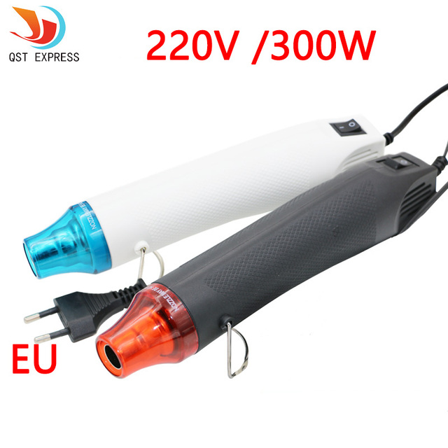 QSTexpress 220V DIY Using Heat Gun Electric Power Tool Hot Air 300W Temperature Gun with Supporting Seat Shrink Plastic