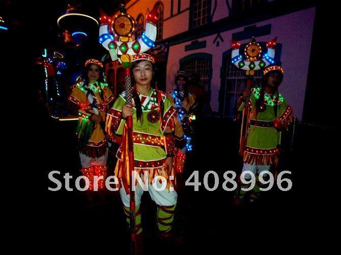 Светодиодный светящееся платье для выступлений/карнавальное платье/светящиеся костюмы/парк развлечений серии 06