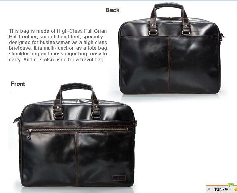 e87f447e62c0 US $119.97 30% OFF|Luxury Men Leather Briefcase Men Business Bag Genuine  Leather Briefcase male 15