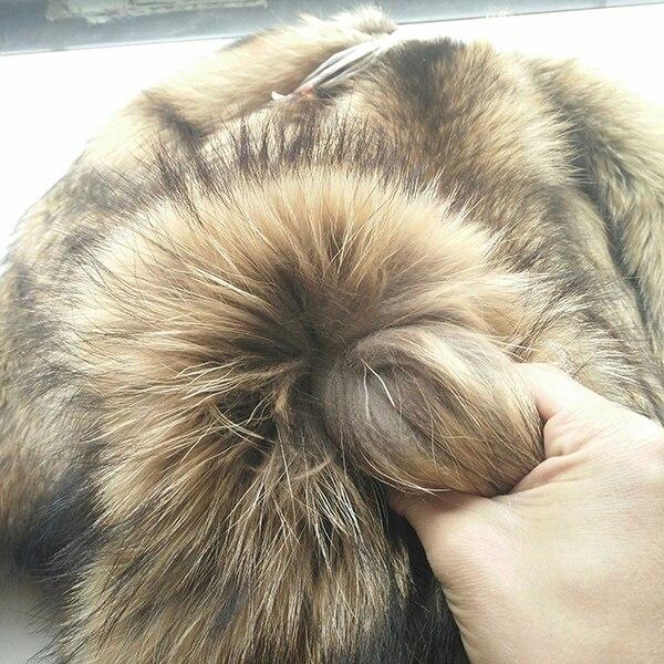 Bonne qualité vraie peau de raton laveur/peau de raton laveur bronzé peau de fourrure réelle - 6