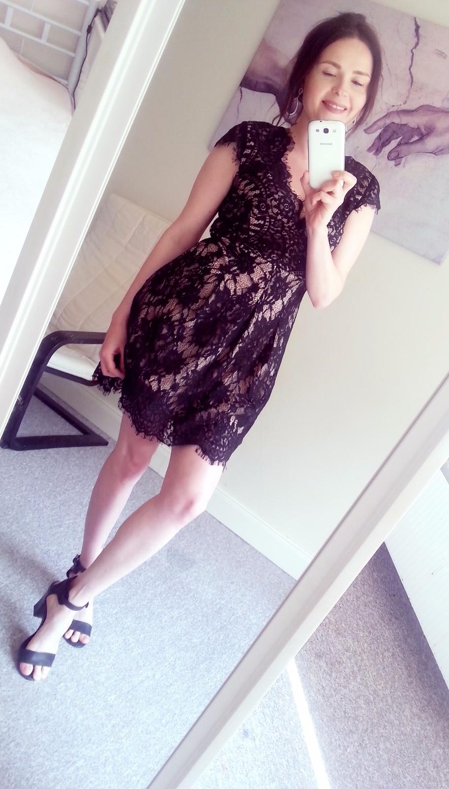 COLROVE Balck Bodycon Vestidos 2016 Summer Dresses Sexy Girls Cap Sleeve Deep V Neck Elegant Women Above Knee Lace Dress