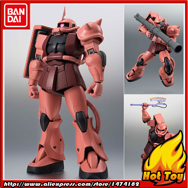 Original BANDAI Tamashii Nations Robot Spirits Action Figure No.193 - MS-06S Char's ZAKU ver. A.N.I.M.E. Mobile Suit Gundam юбка new style цвет синий