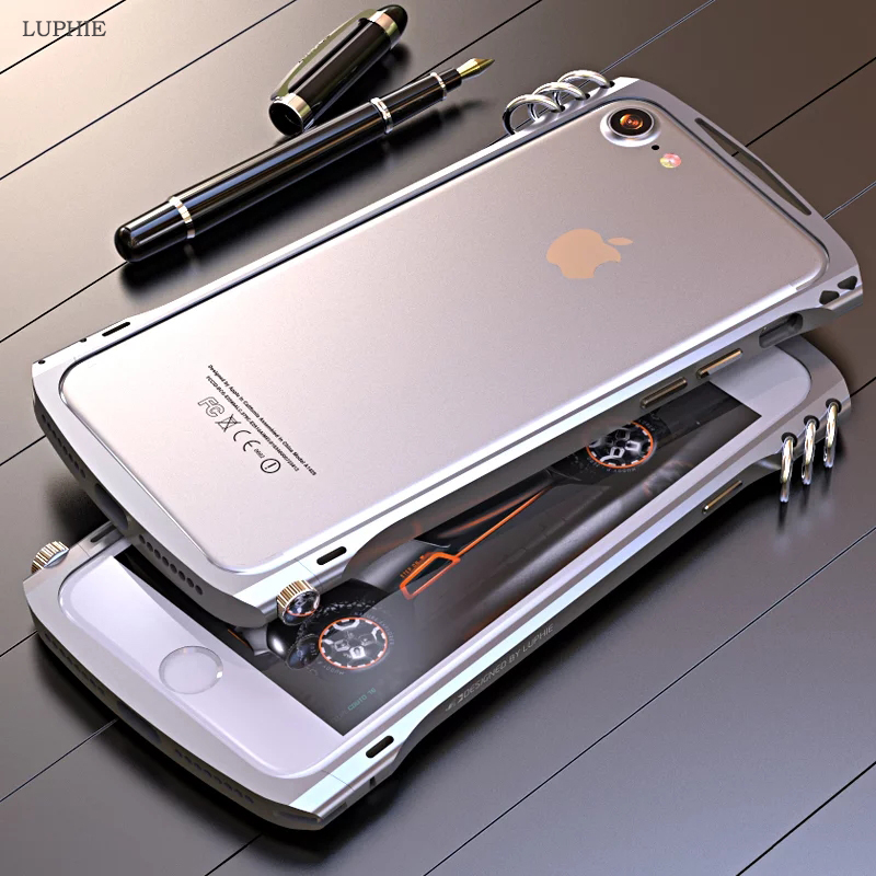 competitive price 7370d 647c3 LUPHIE For Apple iPhone 6S Case Luxury Metal Aluminum Frame Hard Protective  Bumper Phone Case for iPhone 6 6S 7 Plus Case Cover