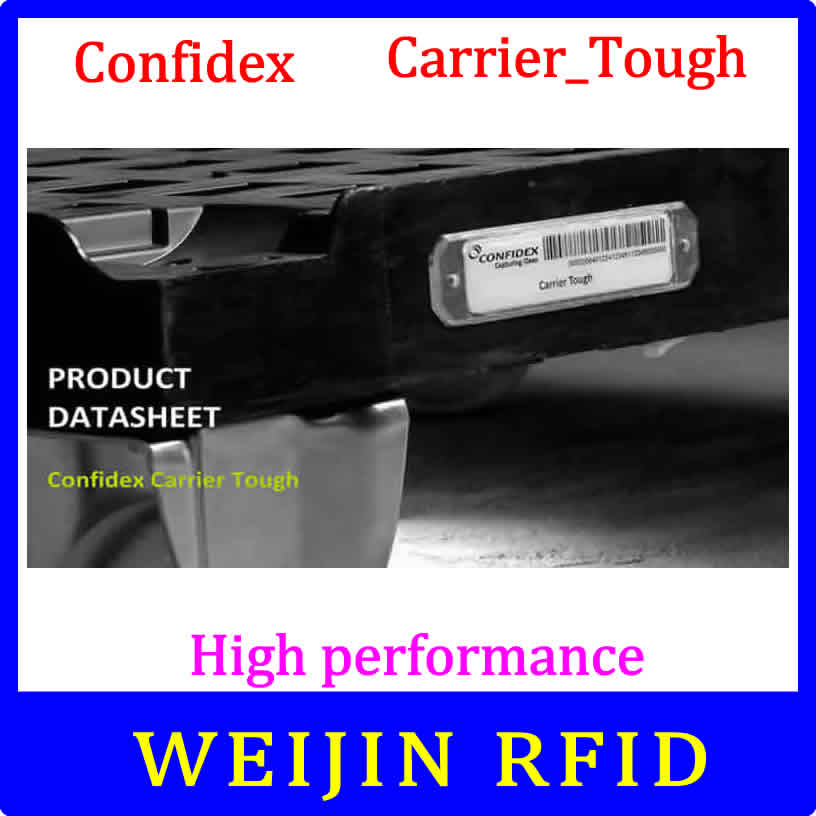 Confidex carrier Tough UHF RFID tag 860-960MHZ 915M EPC C1G2 ISO18000-6C thin tag for tracking various plastic containers 1000pcs long range rfid plastic seal tag alien h3 used for waste bin management and gas jar management