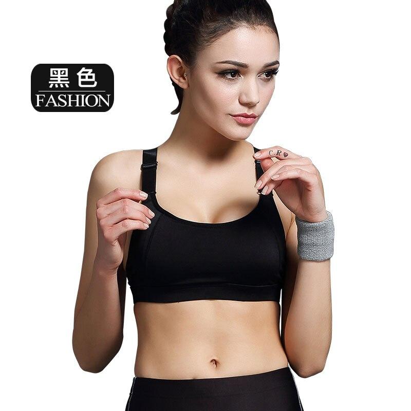2935b35d3 De alta qualidade da mulher Sports Bras confortável Top cueca correndo sutiã  sem fio Fitness Yoga estiramento Push Up Bra