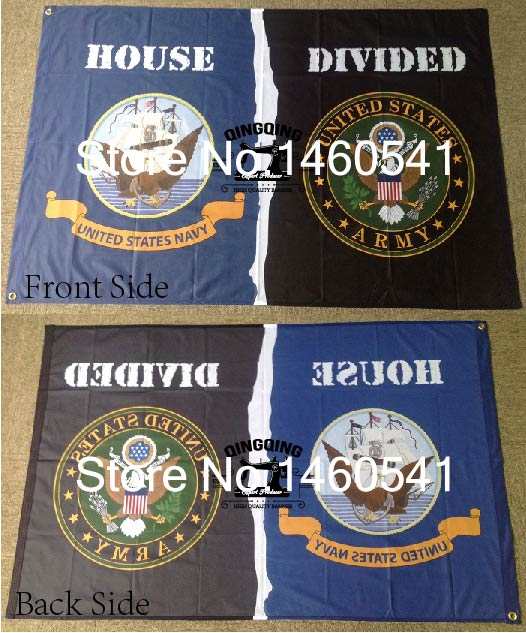 Genial United States Navy United States Army House Divided Flag 3ft X 5ft  Polyester NHL Banner Flying Size No.4 144* 96cm Flag