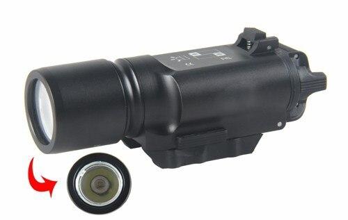 X300 Arma de Luz LED Caza Tiro Táctico Linterna Para Pistola de Airsoft Sight Ri