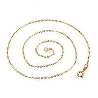 новое постулат! 18kgp желтое золото 460 мм модные ожерелья, приходит с pork asean поле
