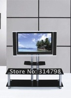 телевизор подставка с алюминиевого сплава ноги / 8 мм закаленное стекло / мдф с живопись
