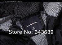 бесплатная доставка мужчины носить толстые зимой на открытом воздухе ветровка тяжелые пальто пуховик одежда черный оптовая продажа 0069