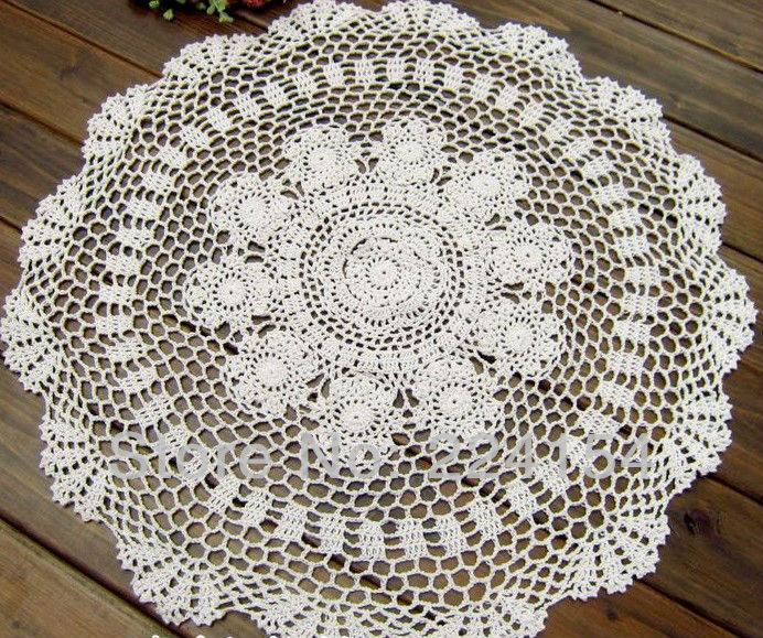 23 Inches60cm Round Crochet Tablecloth White Round Tablecloths