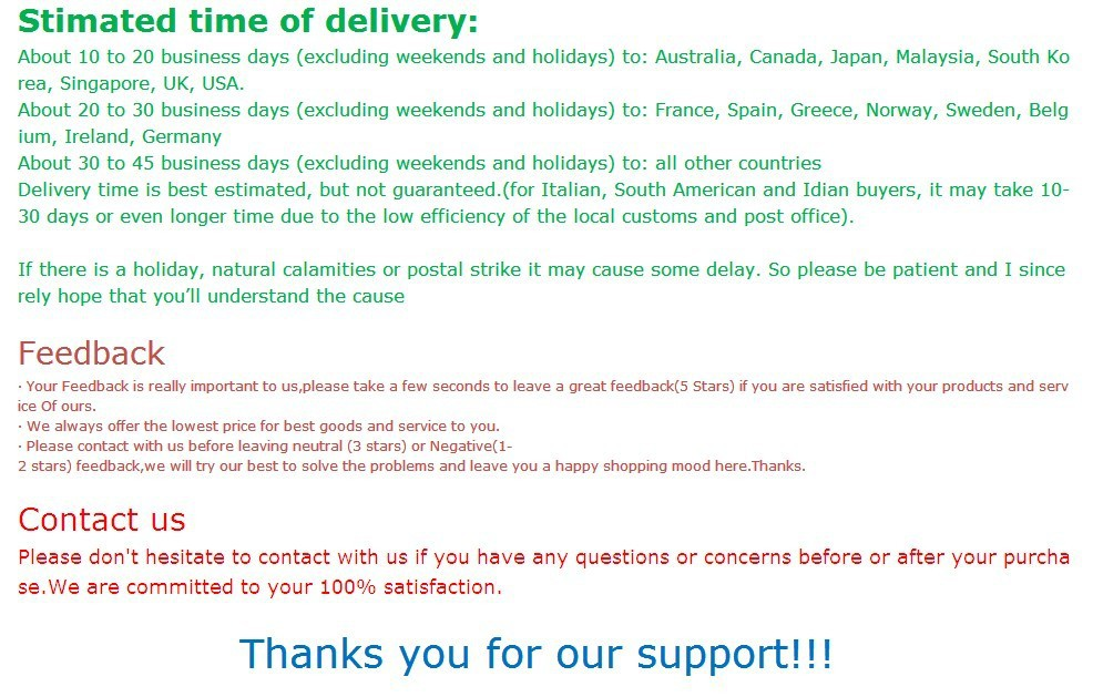 Payment & shipping 2