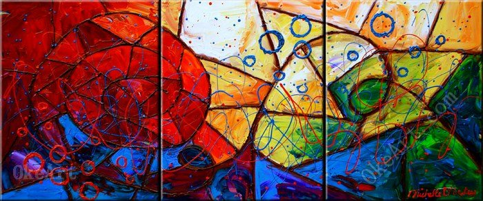 Aliexpress.com : Buy Stained Glass Deceptions Oil Painting On Canvas Wall  Decor Stores 3 Panel Wall Art 3 Pcs 3 Set Kitchen Decor Abstract Music Wal  From ... Part 33
