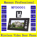 2.4G Wireless Magnetic Lock 7 Inch Video Door Phone Doorbell Dual Audio Remote Unlocking Security Camera IR Night Vision D-1b