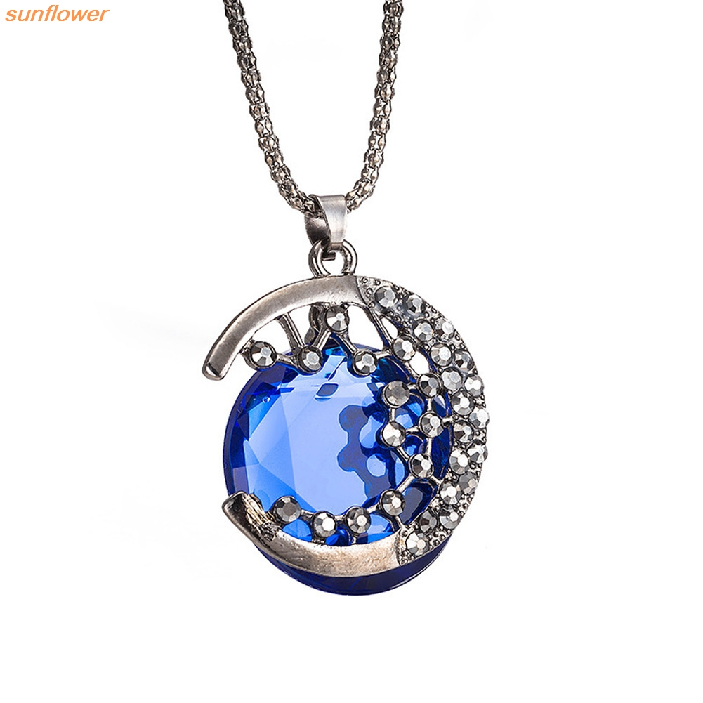 Google themes vampire diaries - Fashion Hollow Semicircle Crystal Snake Chain Necklace The Vampire Diaries Theme Long Sweater Chain China