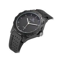 2017 New V6 Fashion Brand Men Black Watches Men Silicone Band Quartz Watch Sports Wristwatch Horloges