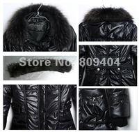 sunlun бесплатная доставка женская milkhair воротник ватные куртка / женщин на молнии верхней одежды