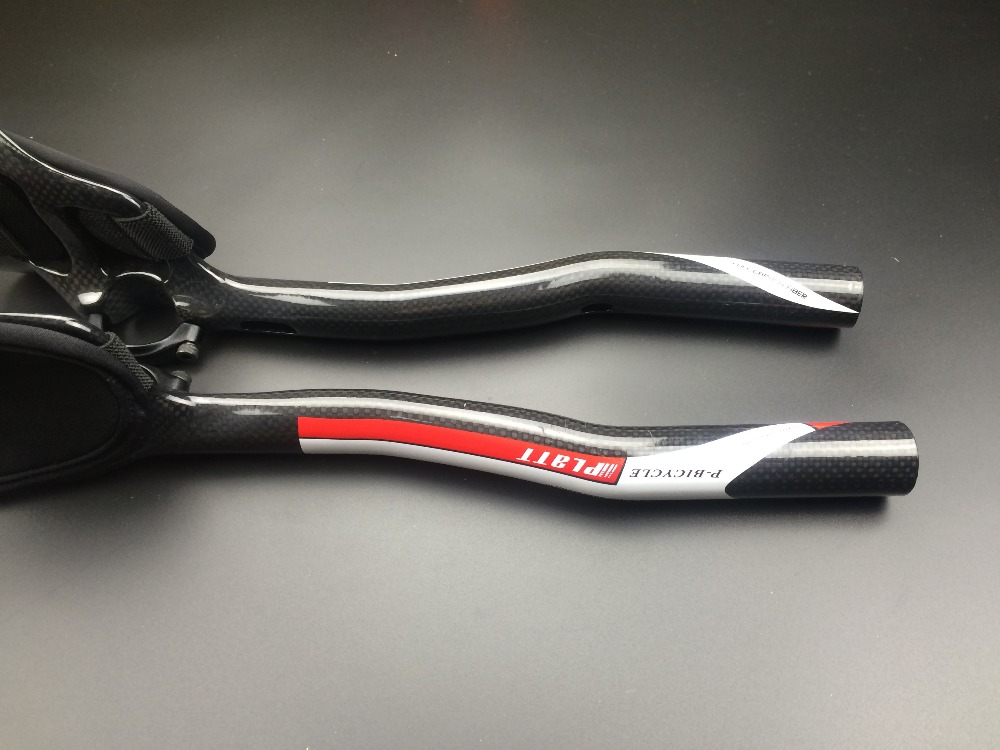 Carbono fibra DE Bicicleta DE estrada o apoio braco resto guiador tt aerobar triatlón bar Bicicleta guiador pecas
