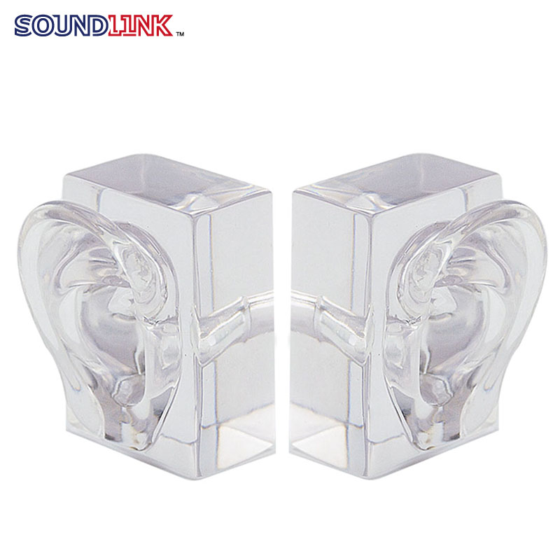 1pair Clear Acrylic Ear Model Demo Ears Impression Taking Practicing Tool Hearing Aids Earphones Showcase Display Stand clear acrylic a3a4a5a6 sign display paper card label advertising holders horizontal t stands by magnet sucked on desktop 2pcs