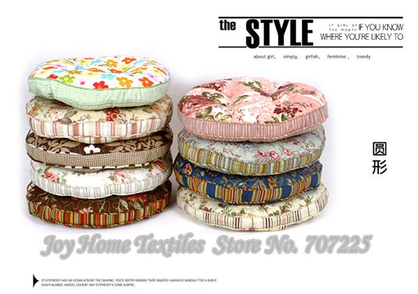 round chair pad high quality printed cushion classic printed flower