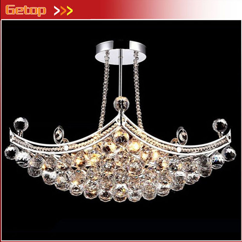 ZX Hot Sale Rectangle K9 Crystal E14 Ship Type Hanging Chandelier Lamp Living Room Hotel Hall Bedroom Dining Room LED Included modern crystal chandelier hanging lighting birdcage chandeliers light for living room bedroom dining room restaurant decoration