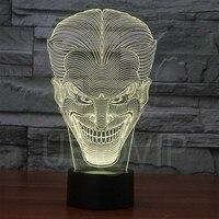 YJM 2832 Unique Design Fashional Light 3D Illusion led Table Lamp Night Light with joker shape