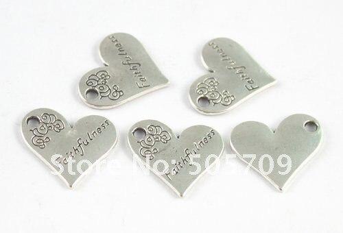 180 шт. тибетское серебро Цвет в форме сердца верность Шарм a15225