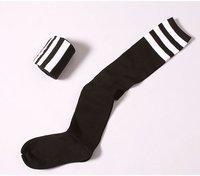 чулки новый осень зима статья 3 бар хлопок более-гольфы / высокие канистра носки и белой полосой носки