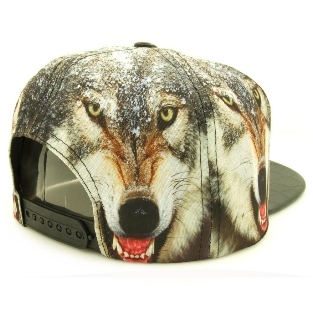 CLIMATE Unique 3D Printing Wolf Wolves Hiphop Snapback Caps Men Women Adjustable PU Cool Vivid Lifelike Wolf Hip Hop Caps Hat нож керамический tescoma vitamino с чехлом длина лезвия 12 см