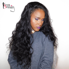 Ever Beauty 250% Density Lace Front Human Hair Wigs Body Wave Brazilian Remy Hair 14-24inch Natural Black Color