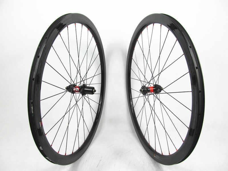 4fc8ef7ef86 Farsports CX bike wheels 38mm carbon cyclcocross rims U-shape with 4 degree  on disc