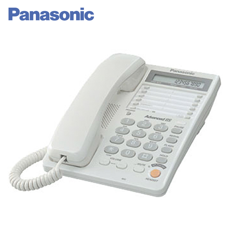 Panasonic KX-TS2365RUW Phone LCD display Home fixed Desktop Phone Landline for home and offfice use. panasonic kx ts2365rub phone landline lcd display on the body of the phone displays the time and data of the current call