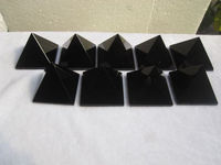 500g 9pcs AAAA Natural Quartz Crystal Obsidian Pyramid Healing christmas decoration home decoration