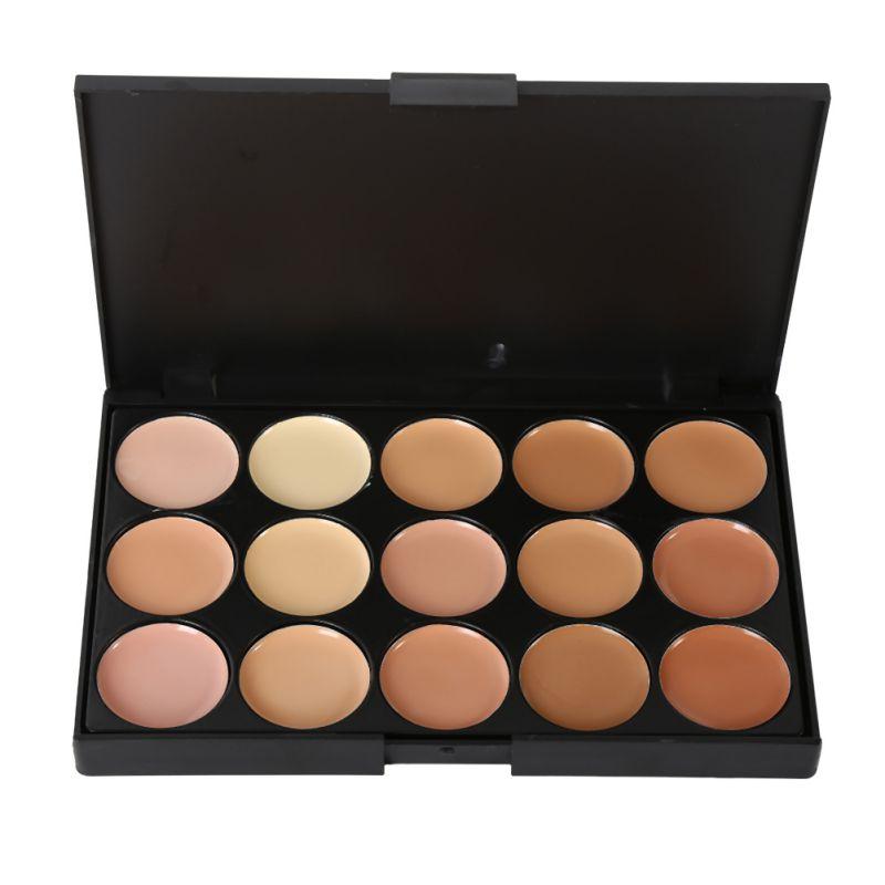 15 colors professional maquiagem salon concealer palette makeup party contour palette face cream - Salon palette ...