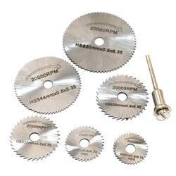 Новый портативный ротари инструмент дисковые пилы диски оправки для Dremel среза QST7pcs