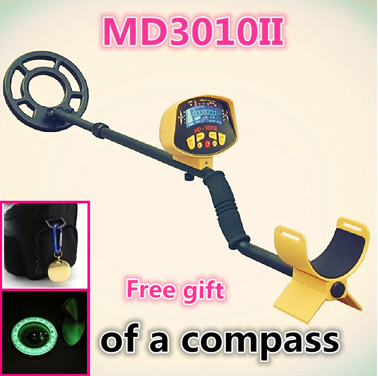 MD3010II Metal Detector Underground with LCD Display Gold Metal Detector Treasure Hunter and Free Gift md 3010ii lcd back light display underground metal detector treasure hunter hobby upgraded metal detectors md3010ii