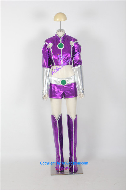 Starfire Cosplay Costume Include Coin Prop